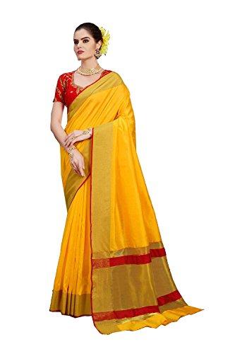 Da Facioun Indian Sarees for Women Wedding Designer Party Wear Traditional Yellow Saree. by Da Facioun