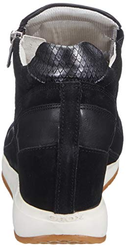 Con Pelle Interna D Nero Geox Donna Zeppa In Nydame Sneaker xpwq7Rg