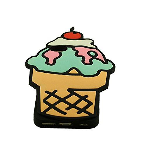 Coque iPhone 6 Plus, Case iphone 6S Plus, Etui Apple iPhone 6 Plus / 6S Plus 5.5 inch, Joli Fruit Crème glacée 3D Forme Doux Silicone Plastique Etui avec 1 Métal pendentif