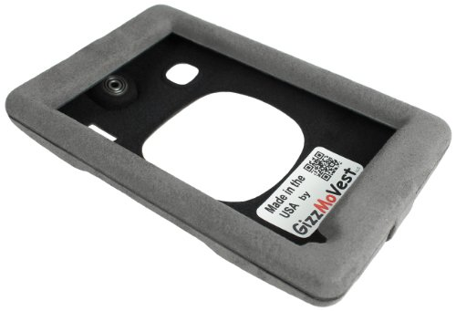 NUVI 3597lmthd Case Cover Luxury Faux Suede Grey. Made in the USA by GizzMoVest LLC