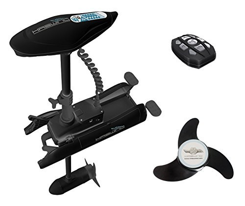 Haswing cayman b 55lbs 12v bow mount electric trolling for Strongest 12v trolling motor