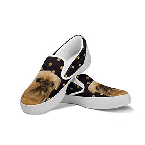 5607463c11cc outlet Brussels Griffon Print Slip Ons Shoes For Women ...