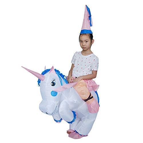 Inflatable Unicorn Rider Costumes Child Halloween Blow Up