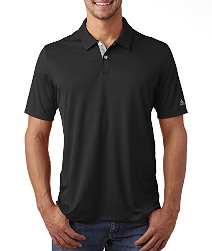 adidas Golf Mens Gradient 3-Stripes Polo A206 -BLACK (Interlock Golf Shirt)