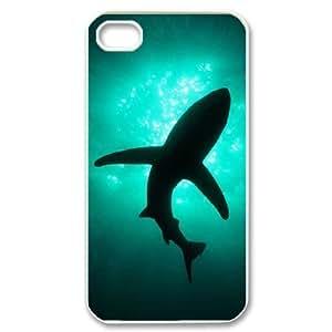 JFLIFE Deep Sea Shark Phone Case for iphone4 White Shell Phone [Pattern-1] Kimberly Kurzendoerfer