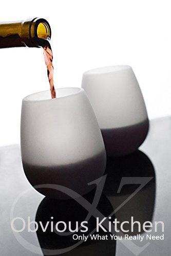 Obvious Kitchen unbreakable silicone wine glasses set of 2 includes a wine stopper pourer wine accessories glamping party outside activity (Whiskey Gift Baskets)
