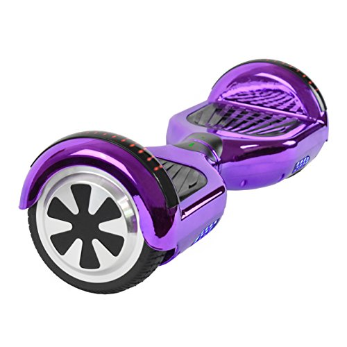 """6.5"""" UL2272 Certified Smart Self Balancing Hoverboard Personal Adult & Kids Transporter with LED Light (Purple)"""