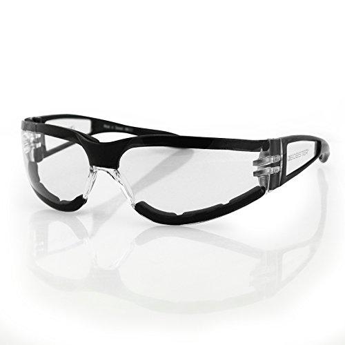 Bobster Shield Ii Sunglasses, Black Frame, Clear Lens ESH203