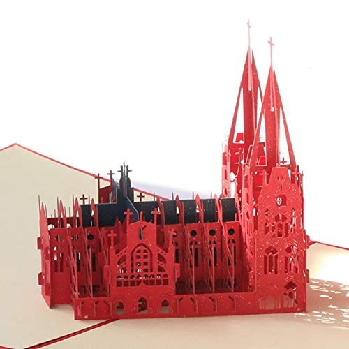 Paper Spiritz Cologne Church Pop up Cards Birthday, Graduation, Thank You for Women Men Boys Kids - Handmade 3D Holiday Pop up Anniversary Card all Occasion for Wife Daughter Children Mother Sister ()