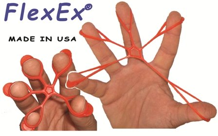 FlexEx Hand Exerciser - 20 Pack Red - Medium Resistance, Made In USA by FlexEx