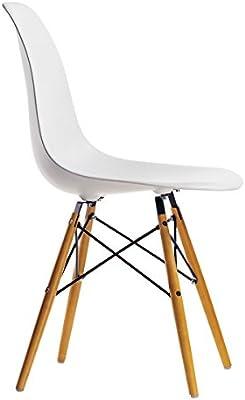 DiseñoCómoda Ferro Silla O De Casa Eames¡silla Blanca Comedor Escritorio Y ElegantePara PnwkO0