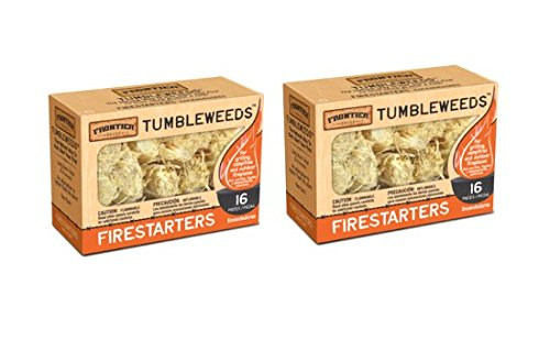 Frontier Tumbleweed Natural FireStarters - 2 Boxes of 16 by Frontier