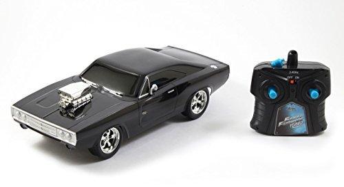 Jada Toys Fast & Furious RC 1970 Dodge Charger RT Vehicle (1/16 Scale), Black [並行輸入品] B01MZ37ZTP
