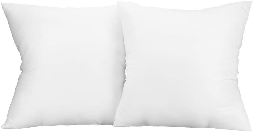 ANIOBMAN 20x20 Pillow Insert Set of 2, Decorative Sham Throw Pillow Inserts Square Cushion Stuffer for Bedroom, Living Room, Dining Room, Bay Window, Balcony, Car