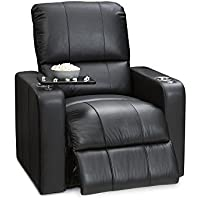 Seatcraft Millenia Leather Manual Recliner, Black