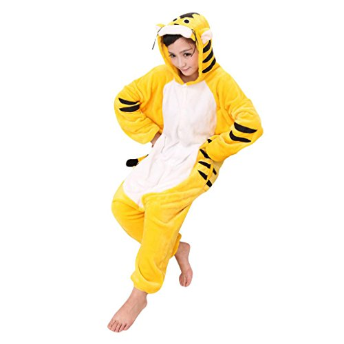 KSJK Unisex Adult Super Cute Animal Tigger Cosplay Costume Onepiece Dress