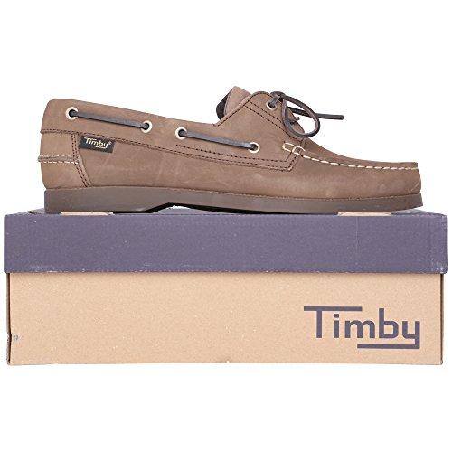 Timby - Náuticos de Piel Vuelta para hombre marrón Antique Timby