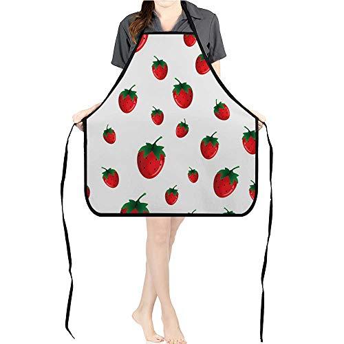 (Jiahong Pan Professional Bib Aprons Strawberry goo for Wallpaper wrapp Papers Texture Kitchen ApronK17.7xG26.6xB9)