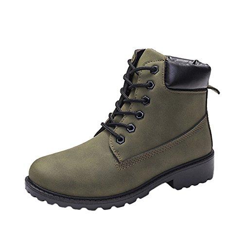 Courtes Bottes classiques Chaude boots Casual Automne Cuir Chaussure Taille Femmes Plates 36 41 Hiver bottines Impermeables Vert bottines Chaussures Femme Lacer Fourrées sonnena 1lKTcFJ