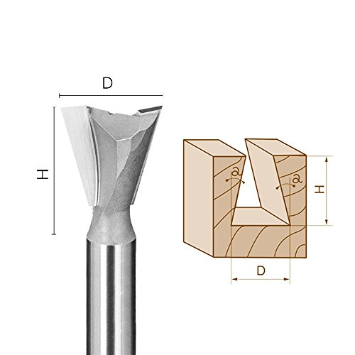 - Dovetail Router Bit | Dove Tail Pattern Router Bit Cutter for Dovetail Dove Tail Jigs Fence Systems or CNC Automatice Routers - 1/2