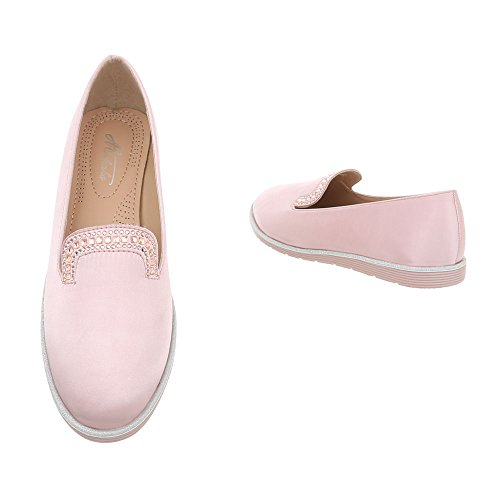 Ital-Design Women's Loafers Pink Size: 7 UK TMLEl