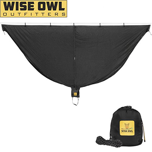 Wise Owl Outfitters Hammock Bug Net SnugNet Mosquito Net for Bugs – Best Quality Mesh Netting Keeps No-See-Ums, Mosquitos and Insects Out - Black