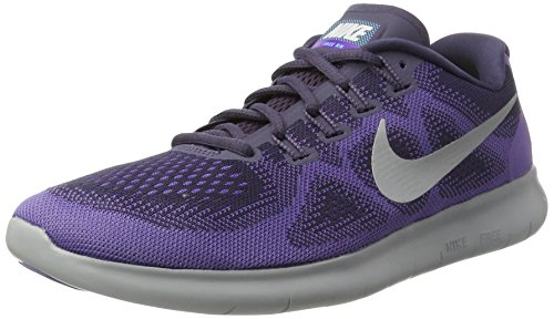 NIKE Womens Free Rn 2017 Low Top Lace Up Running Sneaker, Purple, Size 8.0