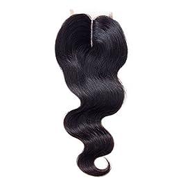 Body Wave Lace Closure Middle Part Lace Closure Brazilian Virgin Human Hair Lace Closure Hair Extension Middle Part (8″ BODY WAVE, Natural color)