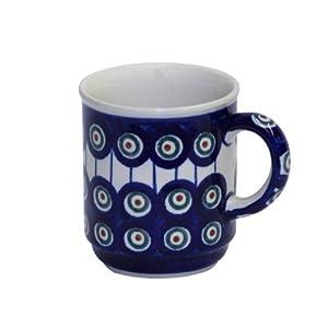 Boleslawiec Pottery Mug, 0.25 L, Original Bunzlauer Keramik, Decor 8