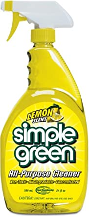 Simple Green 14002 Lemon Scent All-Purpose Cleaner, 24oz Trigger Spray