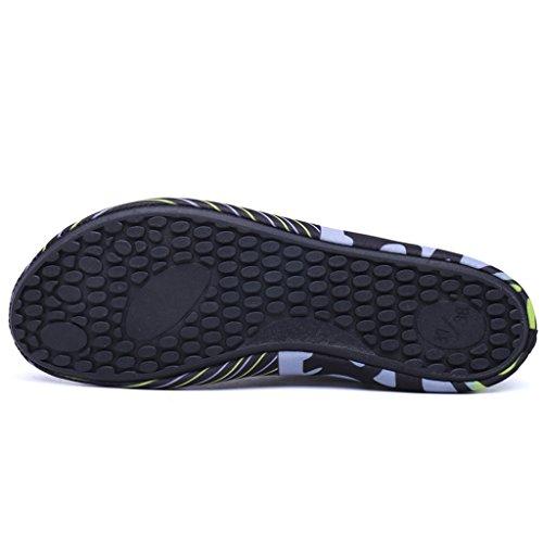 Ivao Vrouwen Mannen Aqua Sokken Sneldrogend Unisex Barefoot Water Schoenen Voor Strandzwemmen Surfen Yoga Zwart