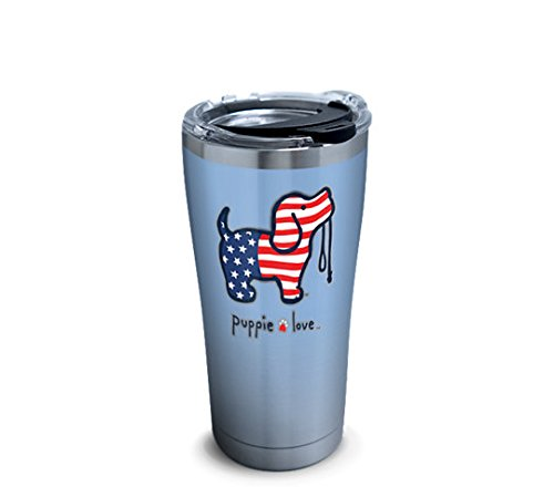 Tervis 1293610 Puppie Love-USA Pup Stainless Steel Tumbler w