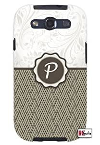 Cool Painting Monogram Initial Letter P Unique Quality Soft Rubber Case for Samsung Galaxy S4 I9500 - White Case