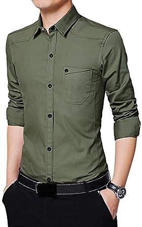 IYFBXl Camisa de algodón Work Business/Basic Plus Size para ...
