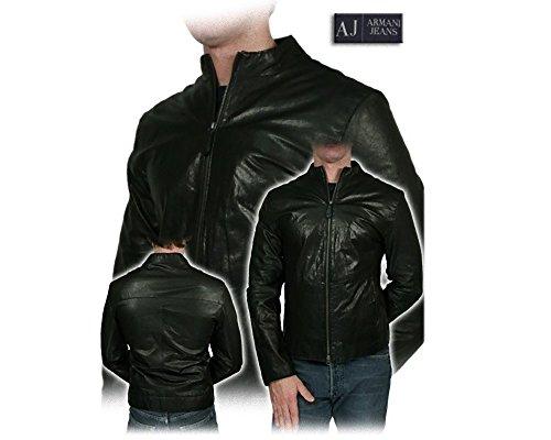 Vera 48 Uomo Jeans Taglia Pelle Armani Giacca q4RnSWYzt