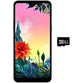 "LG K50S (32GB, 3GB) 6.5"", Dual SIM, Triple Camera, MIL-STD 810G, 4G LTE GSM Factory Unlocked (AT&T, T-Mobile, Metro, Straight Talk) International Model LM-X540BMW (Black, 32GB + 64GB SD Bundle)"