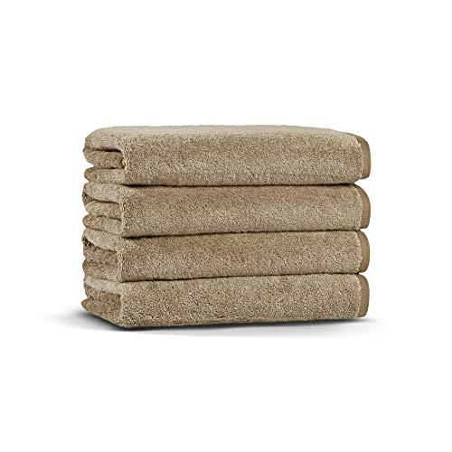 Casual Avenue Ombre Towel Set of 4 50x76 cm. (Khaki)
