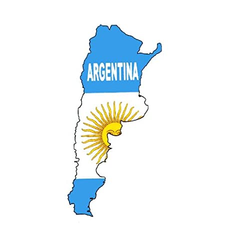 Amazoncom Temporary Body Face Country Flag Map Tattoo Stickers - Argentina map tattoo