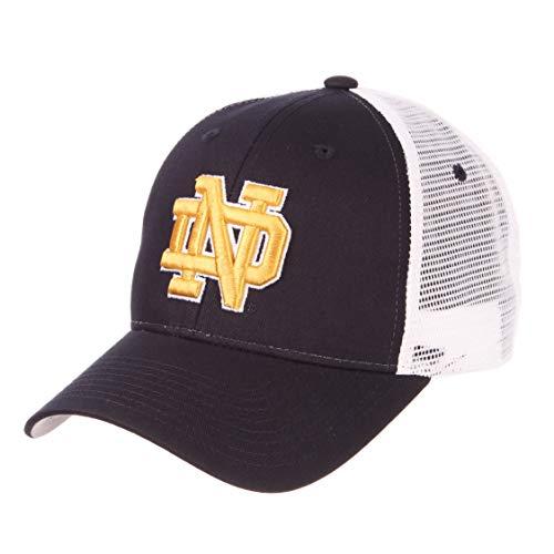 ZHATS University of Notre Dame ND Fighting Irish Navy Blue Big Rig Mesh Trucker Baseball Hat/Cap Size Adjustable