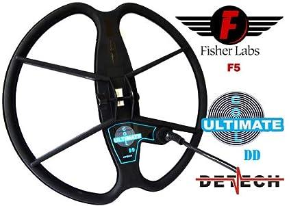DETECH - Bobina de búsqueda DD para Detector de Metales Fisher F5 (33 cm,