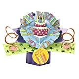 THE ORIGINAL POP UPS - 008 - BIRTHDAY CAKE - GREETING CARD [Office Product]
