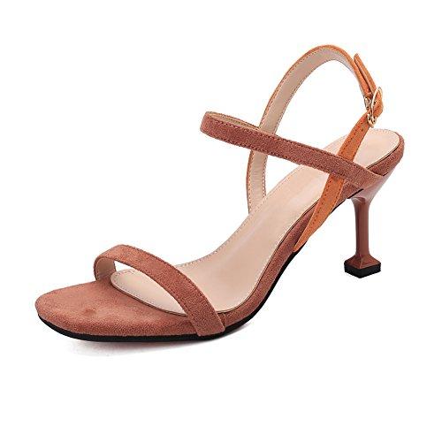 Ouvert Chaussures Rose Cheville Talons Talon Ruiren Dames Femmes Hauts Sandales pour Chaton IPwA8A0xqO