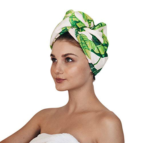 Women, Hair Turban for Drying Wet Hair, Easy Twist Hair Towels, Super Absorbent & Ultra Soft (Palm)