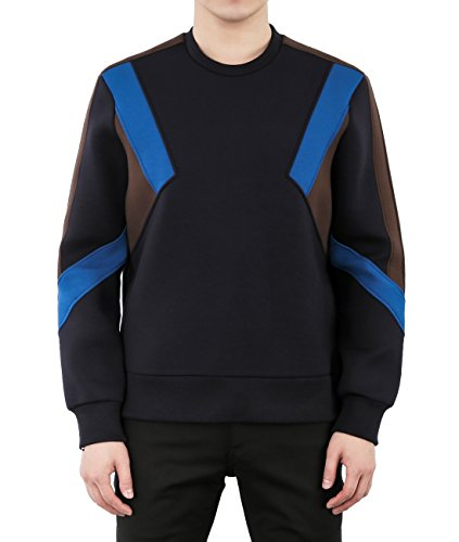 wiberlux-neil-barrett-mens-neoprene-color-blocked-paneled-sweatshirt-l-black-blue