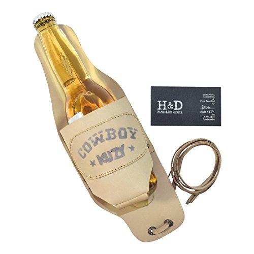 Cowboy Buzy Beer Holster Handmade by Hide  Drink :: Beige