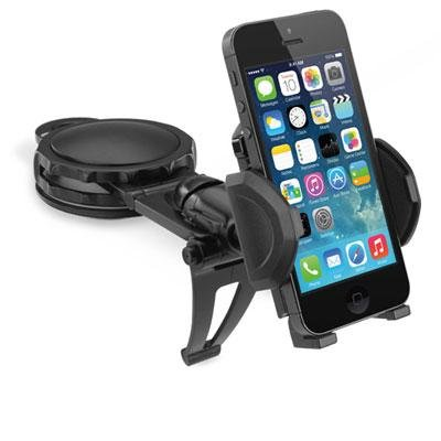 MACALLY DASH MOUNT BLACK CAR DASHBOARD HOLDER ADJUSTABLE FOR