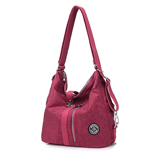 Bolsas Bolsos Impermeable Escolares One Bolso Sport Rojo Nylon Viaje Mochilas Moda Bandolera Bag Mujer Baratos Para De Outreo Mano Tablet Messenger ptq8Y