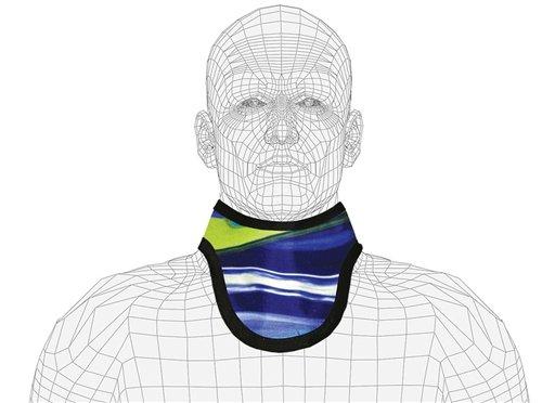 Lightweight Lead X-Ray Thyroid Collar, Standard, Not Attached, 0.5mm Pb, Hook & Loop Closure, Onyx Onyx Loop