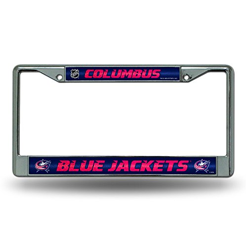 NHL Columbus Blue Jackets Bling Chrome Plate Frame