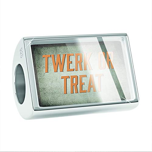 NEONBLOND Charm Twerk or Treat Halloween Spooky Design 925 Sterling Silver Bead -